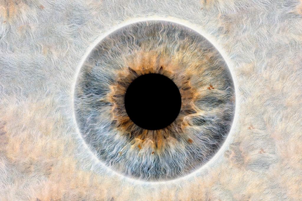 Irisfoto mit speziellem HintergrundIrisfoto mit speziellem Hintergrund