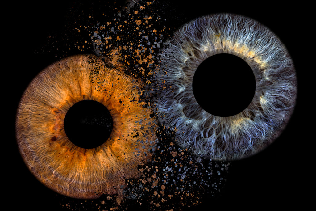 Irisfoto Explosion / Paar Explosion